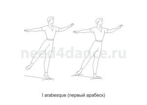 I arabesque (первый арабеск)